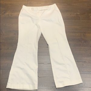 Tahari Size 12 White Flared Dress Pants